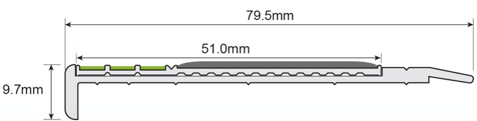 ESP Stair Nosing 9.7x79.5mm F430s171 BLACK PHOTOLUMINESCENT Technica Copy 3