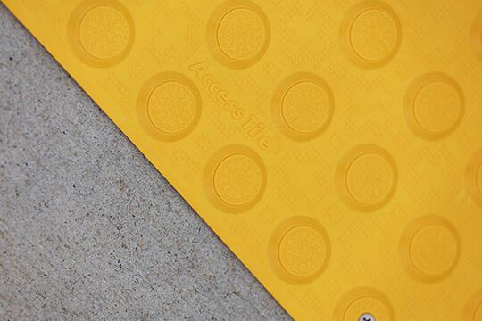 surface applied hazard installed